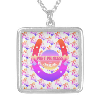 Pony Princess Silver Plated Necklace