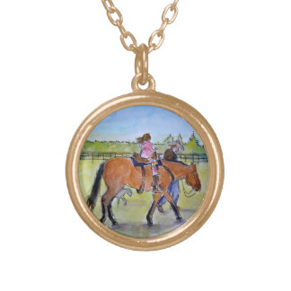 Pony ride gold plated necklace
