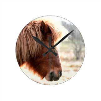 Pony Round Clock