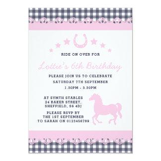 Pony themed birthday party invitation