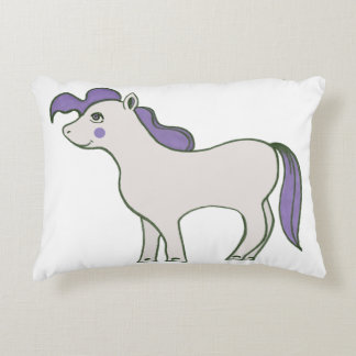 """""""Pony White Hooves"""" Polyester Pillow 16"""" x 12"""" Accent Cushion"""