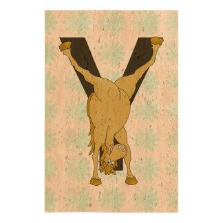 Pony Y Personalized Monogram Queork Photo Print