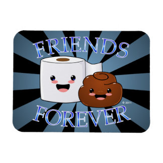 Poo and Toilet Paper Friends Forever Magnet