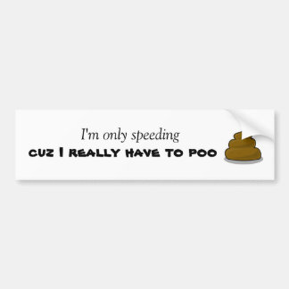 Poo Bumper Sticker