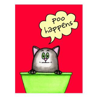 Poo Happens Postcard