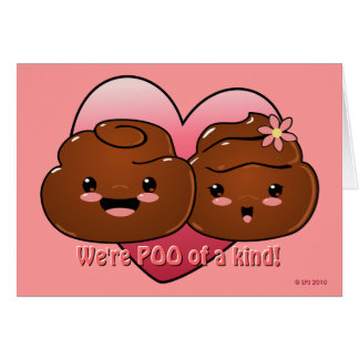 Poo of a Kind Valentine's Day Card