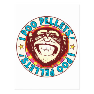 Poo Pellets Monkey Postcard