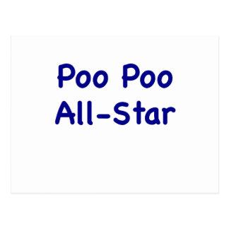 Poo Poo All Star Postcard