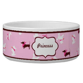 Pooches in Pink Boutique Personalized Dog Bowls