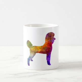 Poodle 01 in watercolor coffee mug