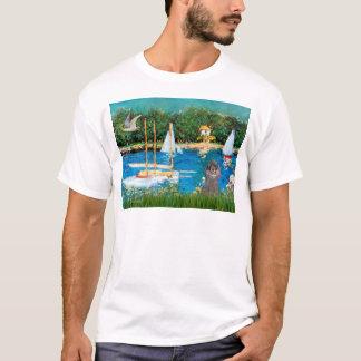 Poodle (8S) - Sailboats T-Shirt