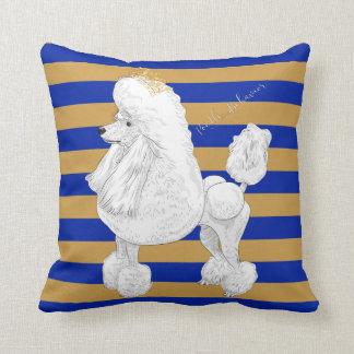 Poodle Behavior Throw Pillow
