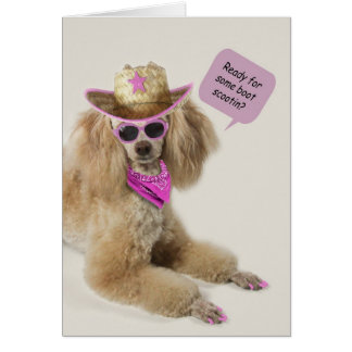 Poodle Birthday Card by Focus for a Cause