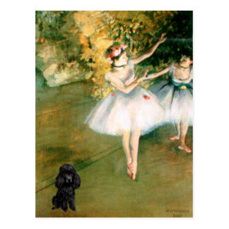 Poodle (Black1) - Two Dancers Postcard