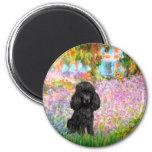 Poodle (black 1) - Garden 6 Cm Round Magnet