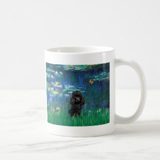 Poodle (black 1) - Lilies 5 Coffee Mug