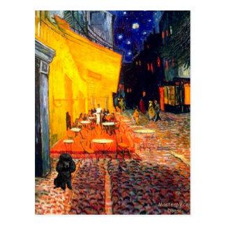 Poodle (black 1) - Terrace Cafe Postcard