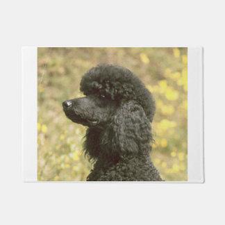 poodle black doormat