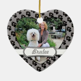 Poodle - Brulee - Trainer Ceramic Heart Decoration