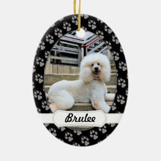 Poodle - Brulee - Trainer Ceramic Oval Decoration