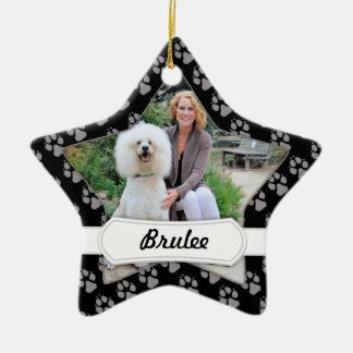 Poodle - Brulee - Trainer Ceramic Star Decoration