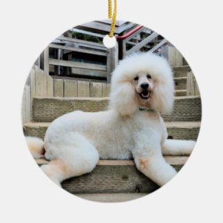 Poodle - Brulee - Trainer Round Ceramic Decoration