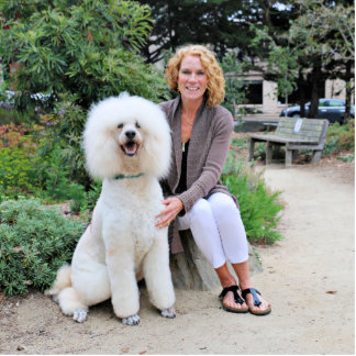 Poodle - Brulee - Trainer Standing Photo Sculpture