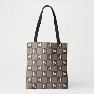 Poodle Checkered Bag (Continental Cut)