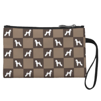 Poodle Checkered Purse (German Cut)