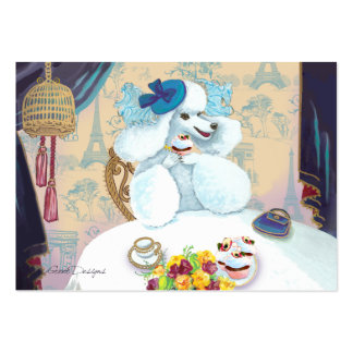 Poodle Cupcake Tea Party Pack Of Chubby Business Cards