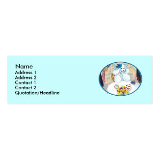 Poodle Cupcake Tea Party Pack Of Skinny Business Cards