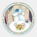 Poodle Cupcake Tea Party Round Sticker