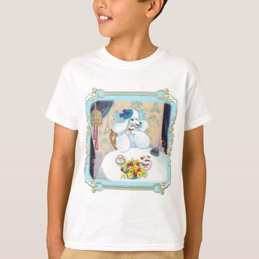 Poodle Cupcake Tea Party T Shirts
