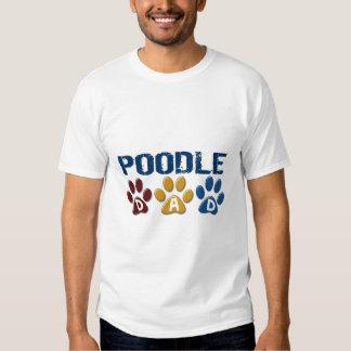 POODLE Dad Paw Print 1 Tshirts