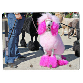 Poodle Day 2016 - Barnes - Pink Standard Poodle Dry Erase Board With Key Ring Holder