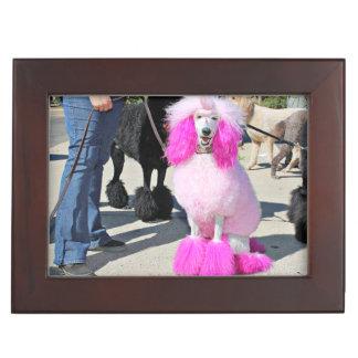 Poodle Day 2016 - Barnes - Pink Standard Poodle Keepsake Box