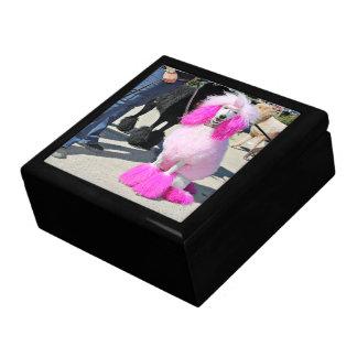 Poodle Day 2016 - Barnes - Pink Standard Poodle Large Square Gift Box