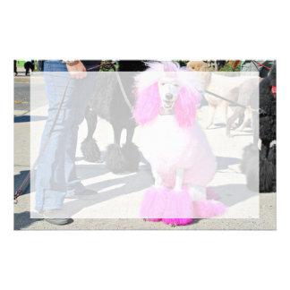 Poodle Day 2016 - Barnes - Pink Standard Poodle Stationery