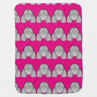 Poodle - Detailed Dogs Swaddle Blankets
