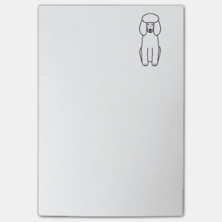 Poodle Dog Cartoon Post-it Notes