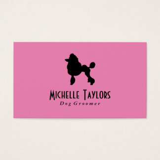 Poodle | Dog Groomer Business Card