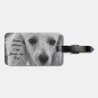 Poodle Dog luggage tag