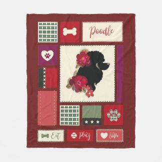 Poodle fleece blanket | Medium | red