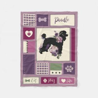 Poodle fleece blanket | SMALL | purple