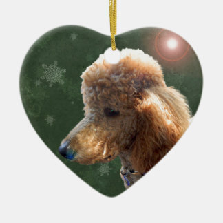 POODLE FOR THE HOLIDAYS CERAMIC ORNAMENT
