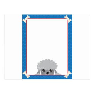 Poodle Frame Postcard