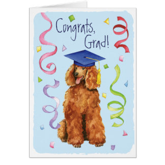 Poodle Graduate Card