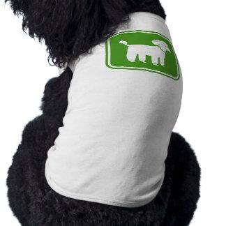 Poodle Graphic (Green) Sleeveless Dog Shirt