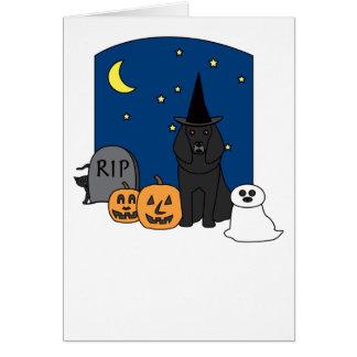 Poodle Halloween Card