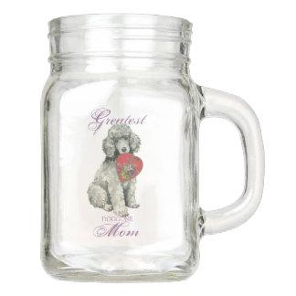 Poodle Heart Mom Mason Jar